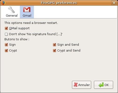 Gmail Gpg